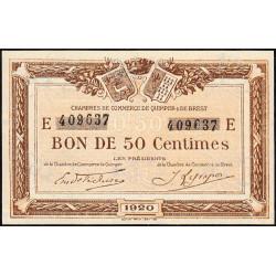 Quimper et Brest - Pirot 104-16 - 50 centimes - Série E - 1920 - Etat : pr.NEUF