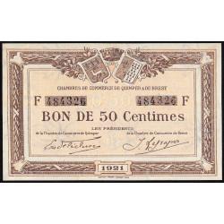 Quimper et Brest - Pirot 104-19 - 50 centimes - Série F - 1921 - Etat : NEUF