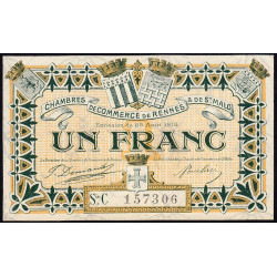 Rennes et Saint-Malo - Pirot 105-18-C - 1 franc - Etat : SPL