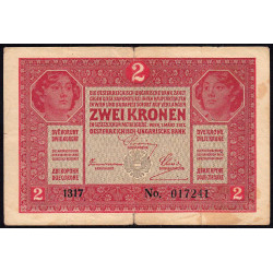 Autriche - Pick 21 - 2 kronen - 1917 - Etat : TB