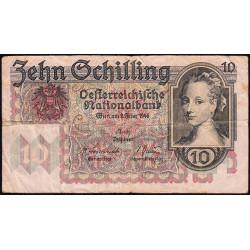 Autriche - Pick 122 - 10 shilling - 1946 - Etat : TB-