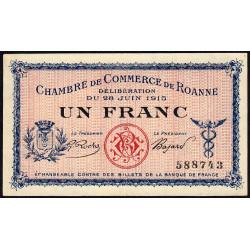 Roanne - Pirot 106-1 - 1 franc - Sans série - 28/06/1915 - Etat : SPL