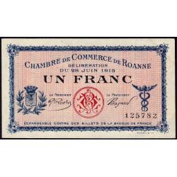 Roanne - Pirot 106-2a - 1 franc - Sans série - 28/06/1915 - Etat : SUP+