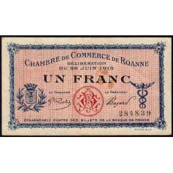 Roanne - Pirot 106-2a - 1 franc - Sans série - 28/06/1915 - Etat : TTB