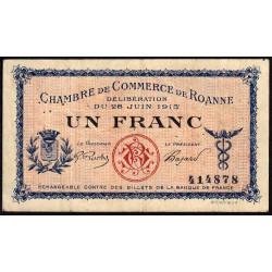 Roanne - Pirot 106-2a - 1 franc - Sans série - 28/06/1915 - Etat : TB+