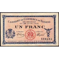 Roanne - Pirot 106-2a - 1 franc - Sans série - 28/06/1915 - Etat : SUP