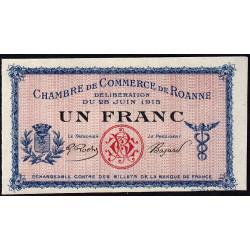 Roanne - Pirot 106-4 - 1 franc - 28/06/1915 - Spécimen - Etat : NEUF