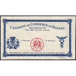 Roanne - Pirot non répertorié - 1 franc - 28/06/1915 - Epreuve - Etat : NEUF