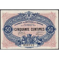 Roanne - Pirot 106-5 - 50 centimes - 04/10/1915 - Etat : NEUF
