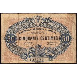 Roanne - Pirot 106-7 - 50 centimes - 04/10/1915 - Etat : B+