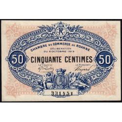 Roanne - Pirot 106-7 - 50 centimes - 04/10/1915 - Etat : pr.NEUF