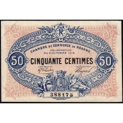Roanne - Pirot 106-7 - 50 centimes - 04/10/1915 - Etat : SPL