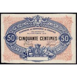 Roanne - Pirot non répertorié - 50 centimes - Epreuve de l'avers - Etat : SPL
