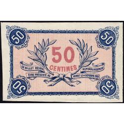 Roanne - Pirot non répertorié - 50 centimes - Epreuve du revers - Etat : pr.NEUF