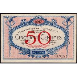 Roanne - Pirot 106-9 - 50 centimes - Sans série - 18/07/1917 - Etat : pr.NEUF