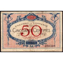 Roanne - Pirot 106-09 - 50 centimes - Etat : TB-