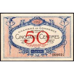 Roanne - Pirot 106-9 - 50 centimes - Sans série - 18/07/1917 - Etat : SPL