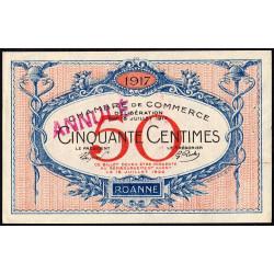 Roanne - Pirot 106-10 - 50 centimes - 18/07/1917 - Annulé - Etat : SUP
