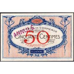 Roanne - Pirot 106-10 - 50 centimes - Annulé - Etat : NEUF
