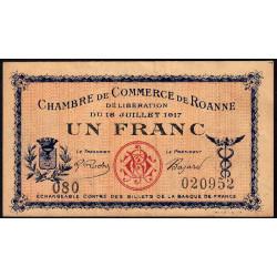 Roanne - Pirot 106-12 - 1 franc - Série 080 - 18/07/1917 - Etat : TTB