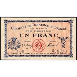 Roanne - Pirot 106-12 - 1 franc - Etat : SUP+
