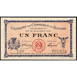 Roanne - Pirot 106-12 - 1 franc - Série 100 - 18/07/1917 - Etat : SUP+