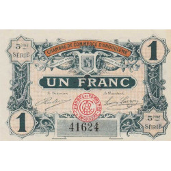 Angoulême - Pirot 9-36b - 1 franc - 1917 - Etat : SPL