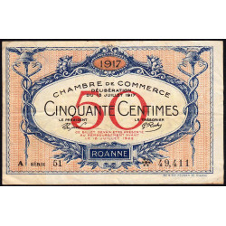 Roanne - Pirot 106-15 - 50 centimes - Etat : TB+