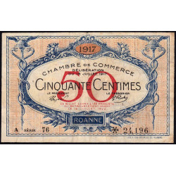 Roanne - Pirot 106-15 - 50 centimes - Etat : TB