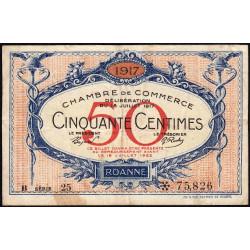 Roanne - Pirot 106-16 - 50 centimes - Etat : TB+