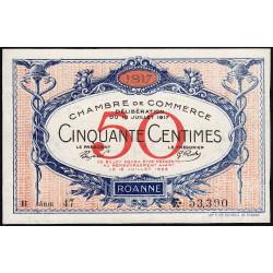 Roanne - Pirot 106-16 - 50 centimes - Série B 47 - 18/07/1917 - Etat : pr.NEUF