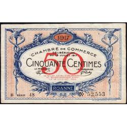 Roanne - Pirot 106-16 - 50 centimes - Etat : TTB