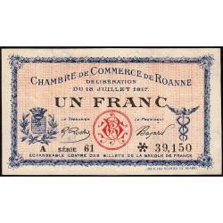 Roanne - Pirot 106-17 - 1 franc - Série A 61 - 18/07/1917 - Etat : SUP