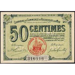 Rochefort-sur-Mer - Pirot 107-7 - 50 centimes - 2me Série - 28/10/1915 - Etat : SPL