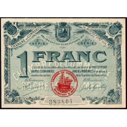 Rochefort-sur-Mer - Pirot 107-9 - 1 franc - 2me Série - 28/10/1915 - Etat : SPL