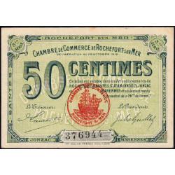 Rochefort-sur-Mer - Pirot 107-11 - 50 centimes - 3me Série - 28/10/1915 - Etat : SUP