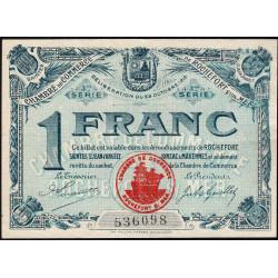 Rochefort-sur-Mer - Pirot 107-13 - 1 franc - 3me Série - Etat : SUP