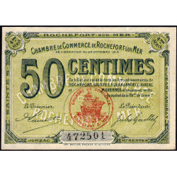 Rochefort-sur-Mer - Pirot 107-15 - 50 centimes - 4me Série - 28/10/1915 - Etat : SPL