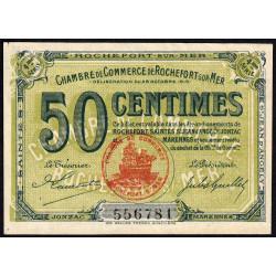 Rochefort-sur-Mer - Pirot 107-15 - 50 centimes - 4me Série - 28/10/1915 - Etat : SUP+