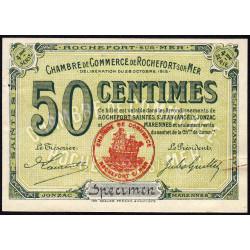 Rochefort-sur-Mer - Pirot non répertorié - 50 centimes - 4me Série - Spécimen - 28/10/1915 - Etat : SUP+