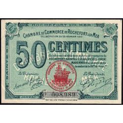 Rochefort-sur-Mer - Pirot 107-17 - 50 centimes - 5me Série - 25/02/1920 - Etat : SUP+