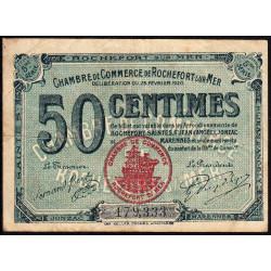 Rochefort-sur-Mer - Pirot 107-17 - 50 centimes - 5me Série - 25/02/1920 - Etat : TB