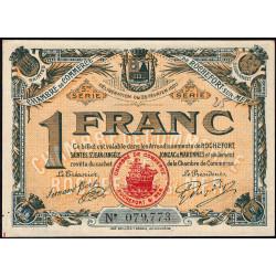 Rochefort-sur-Mer - Pirot 107-19 - 1 franc - 5me Série - 25/02/1920 - Etat : SUP+