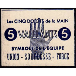 Billet de 5 vaillants - 1ère série /C - 1943 - Etat : pr.NEUF