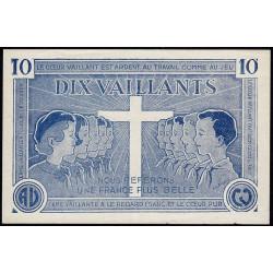 Billet de 10 vaillants - 1ère série /C - 1935-1945 - Etat : SUP