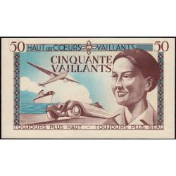 Billet de 50 vaillants - 2ème série /B - 1935-1938 - Etat : pr.NEUF