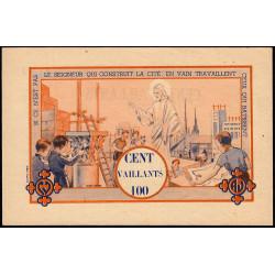 Billet de 100 vaillants - 4ème série /B - 1938-1943 - Etat : SUP à SPL