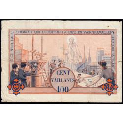 Billet de 100 vaillants - 4ème série /A - 1938-1943 - Etat : TB-