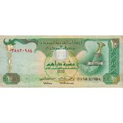 Emirats Arabes Unis - Pick 20c - 10 dirhams - 2004 - Etat : TTB