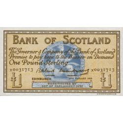 Ecosse - Pick 100c_1 - 1 pound sterling - 27/08/1958 - Etat : SPL+